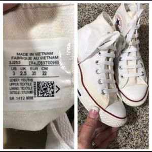 Converse Chuck Taylor High Tops in White